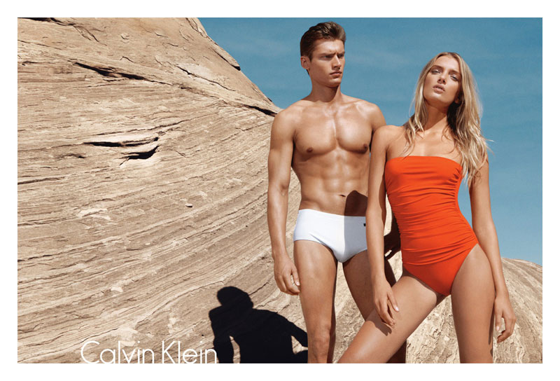 Lily Donaldson for Calvin Klein Swim 2012