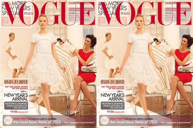 Caroline Trentini and Daria Strokous cover Vogue Italia