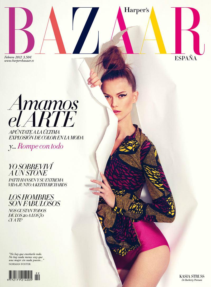 Kasia Struss covers Spanish Harper\'s Bazaar