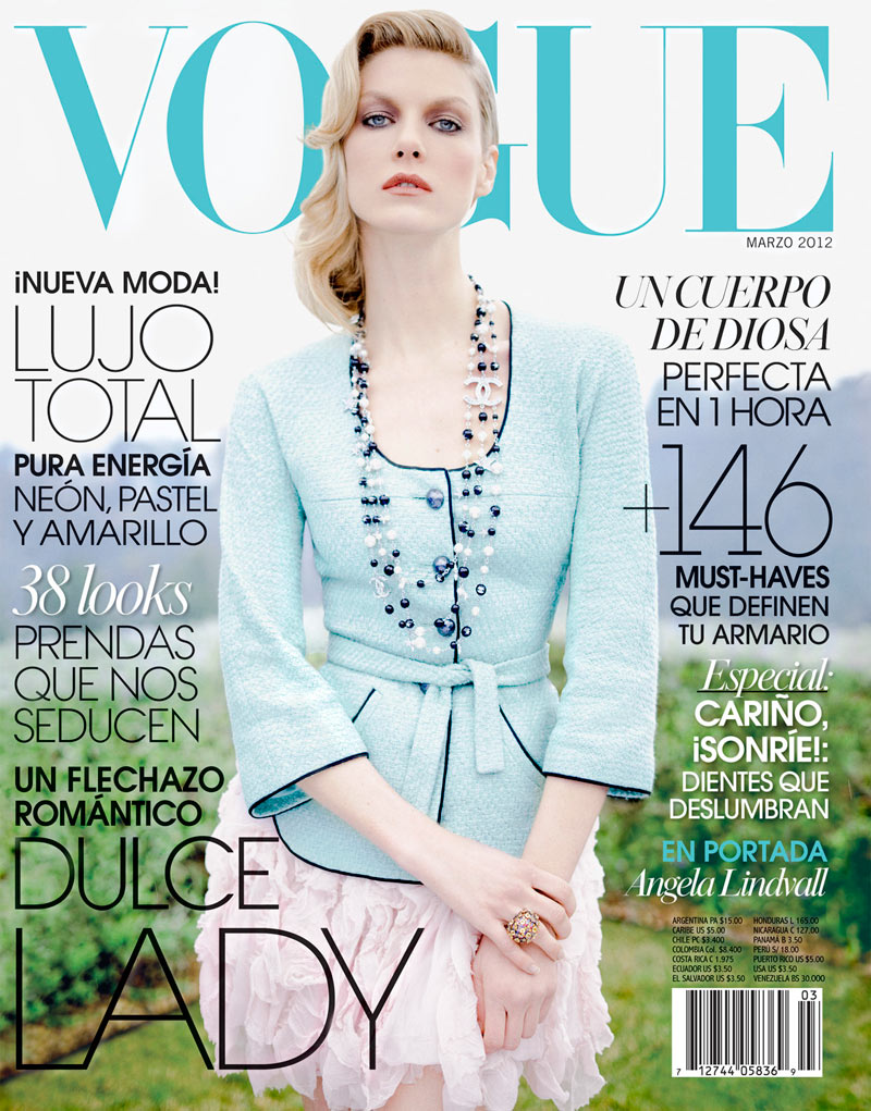 Angela Lindvall covers Vogue Latin America