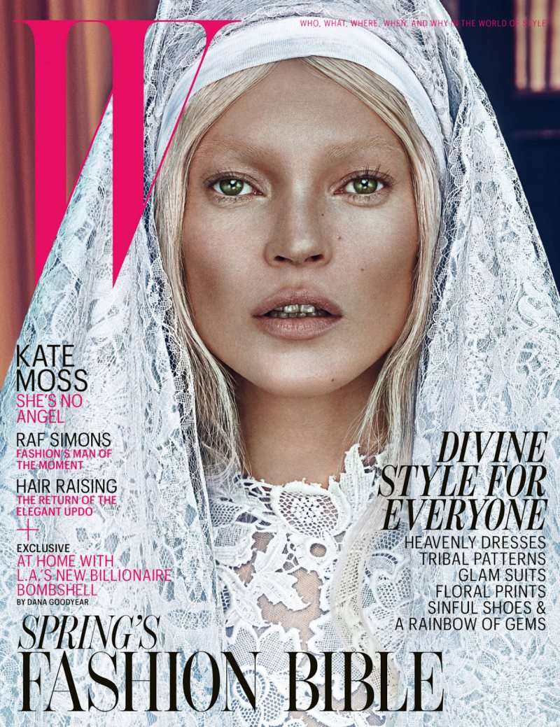 kate Moss for W Magazine