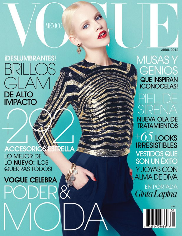 Ginta Lapina covers Vogue Mexico