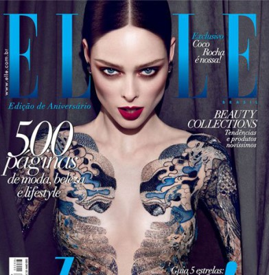 Coco Rocha reacts badly to her Elle Brazil cover photo