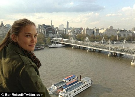 Bar Refaeli expresses her discomfort after dubious airport patdown.