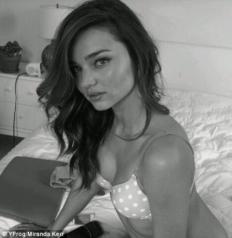 Miranda Kerr shows her perfection in a pretty behind the scenes shot