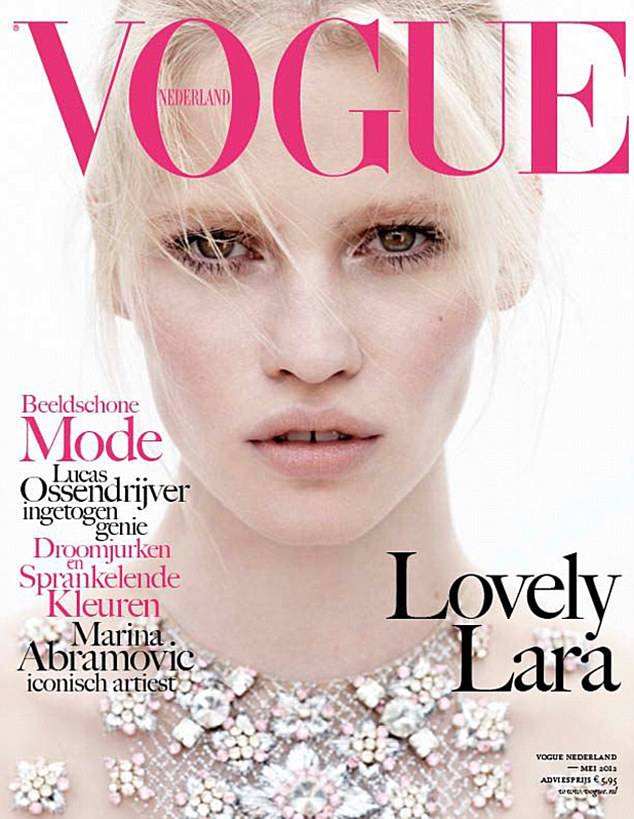 Lara Stone radiant with her first Vogue Netherlands cover!