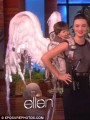 Ellen DeGeneres awarded Miranda Kerr with a handy set of wings