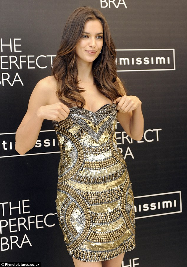 Dazzling Irina Shayk promoting The Perfect Bra a little too much
