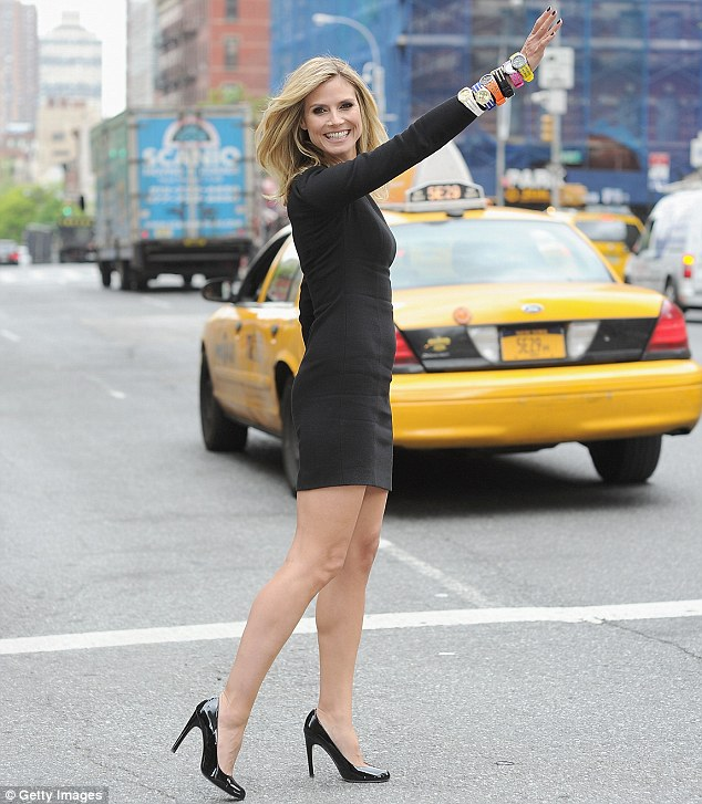 Heidi Klum stops the traffic with her new jewelry collection in NYC