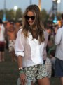 Rosie Huntington-Whiteley relaxes at Coachella