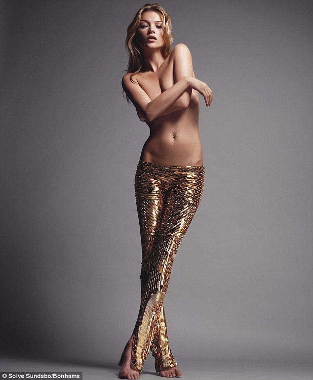 Kate Moss donates topless portrait for charity auction