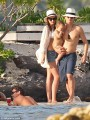 Family time: Miranda Kerr enjoys sunny vacation in Bora Bora