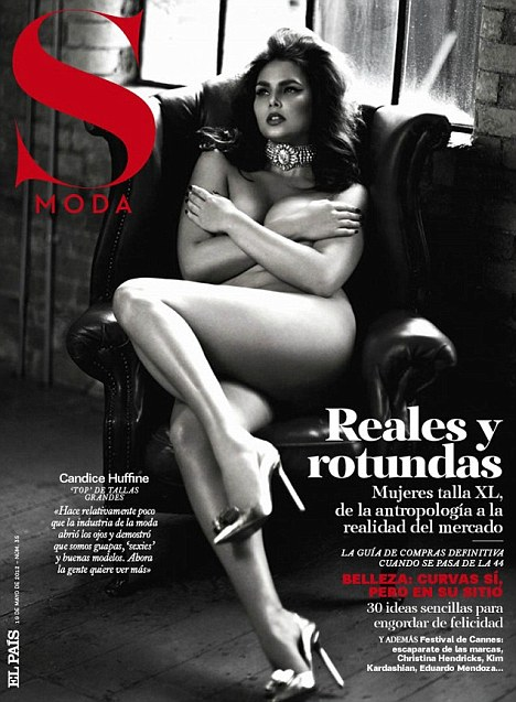 Plus-sized beauty Candice Huffin bares it all for Spain�s S Moda
