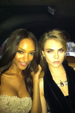 Cara Delevingne and Jourdan Dunn join for girly time before the Met