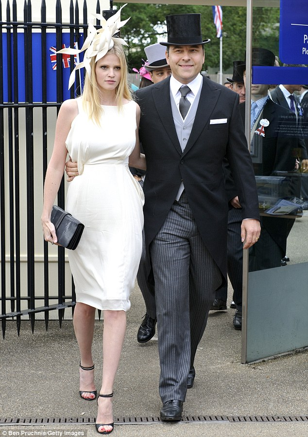 Lara Stone and David Walliams make a show at Royal Ascot