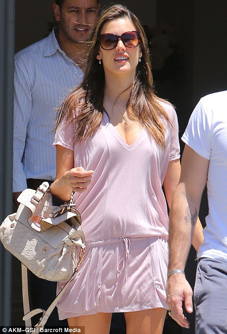 "Alessandra Ambrosio shows ""nesting instinct"" as she shops for new home"