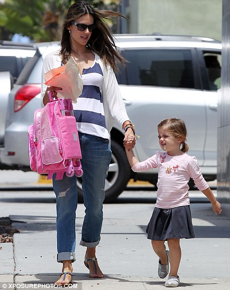 Alessandra Ambrosio takes time out for daughter Anja