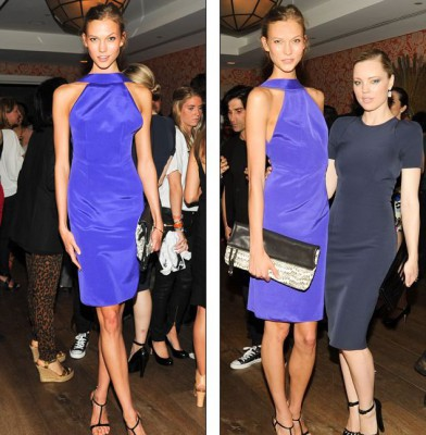 Supermodel Karlie Kloss looked radiant at New York fashion party