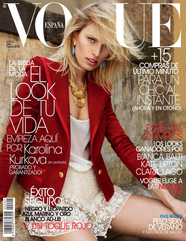 Karolina Kurkova makes the cover of Vogue Spain