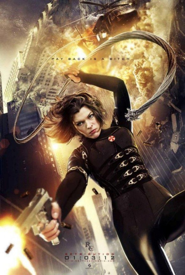 "Milla Jovovich returns as Alice in Resident Evil's, ""Retribution."""