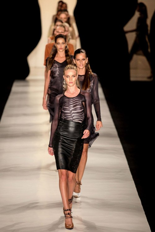 Rosie Huntington-Whiteley Walks for Animale at Sao Paulo Fashion Week