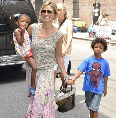 Heidi Klum takes time-out for her children