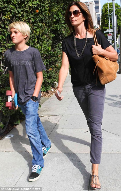 Supermodel Cindy Crawford bonds with son, Preston
