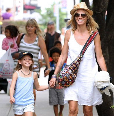 Heidi Klum enjoying time with her children