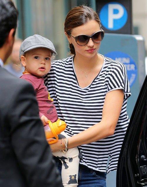 Miranda Kerr and Flynn in Manhattan