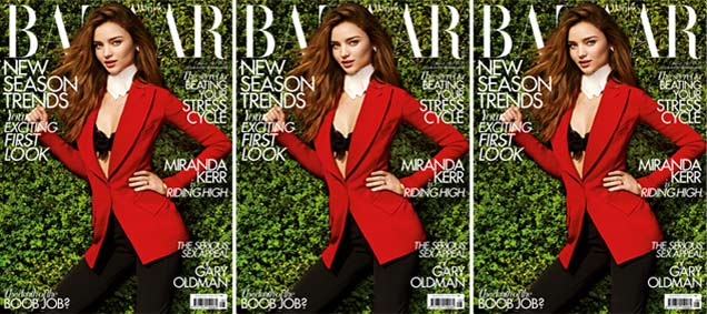 Miranda Kerr Covers Harper\'s Bazaar UK August 2012