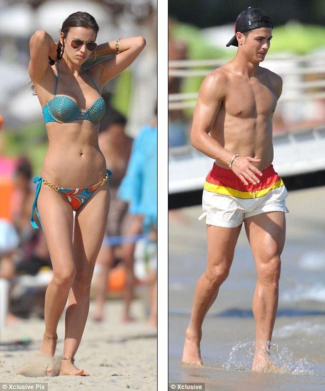 Cristiano Ronaldo and Irina Shayk show off their beach bodies in St ...