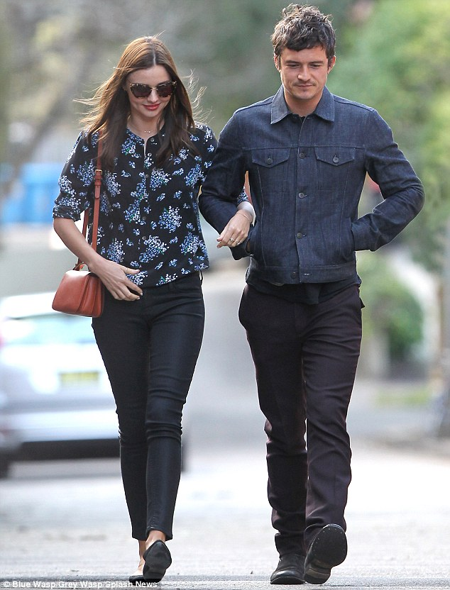 It's family time for Miranda Kerr and Orlando Bloom