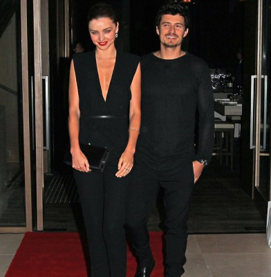 Miranda Kerr steps out with Orlando Bloom for a night out in Sydney