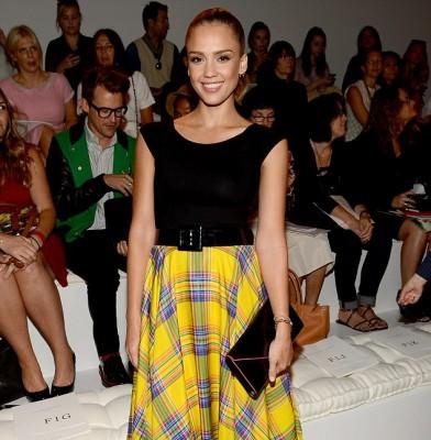 Jessica Alba shines at New York Fashion Week