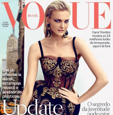 Caroline Trentini covers Vogue Brazil