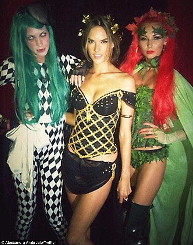 "Alessandra Ambrosio looks ""hot"" at Halloween party"