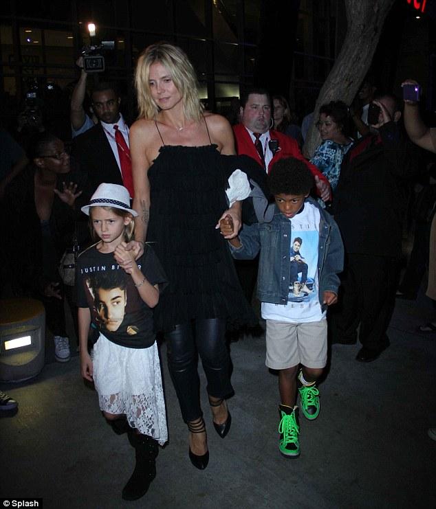 Heidi Klum treated her children to a Justin Bieber concert