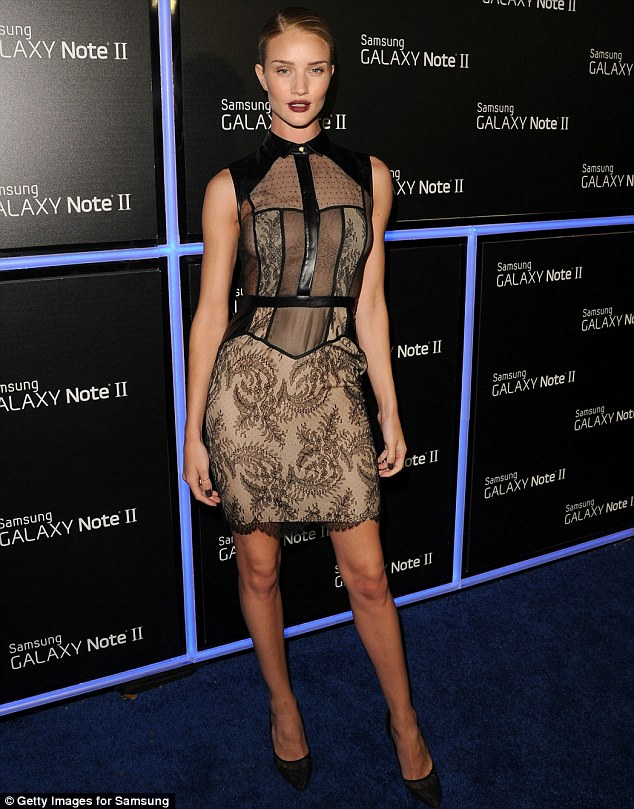 """Rosie Huntington-Whiteley """"glams it up"""" at a launch party in Beverly Hills"""