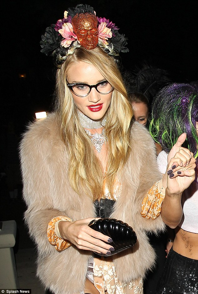 It's fright night and Rosie Huntington-Whiteley dresses to scare!