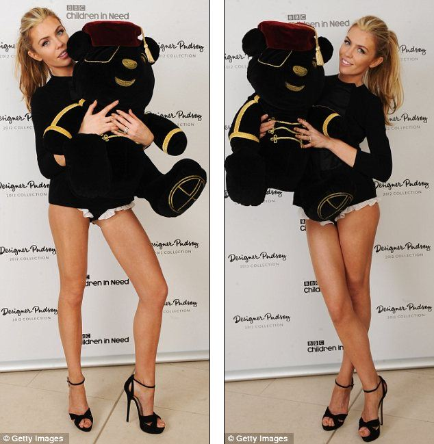 "Abbey Crouch auctions off Pudsey Bear by showing off her ""glam"" legs"