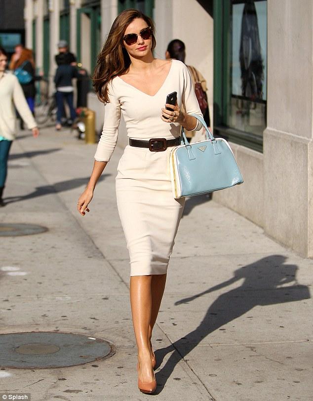 It�s back to work for supermodel Miranda Kerr