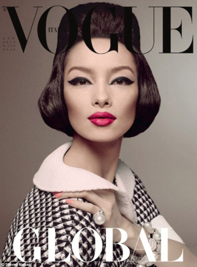 First Asian model ever to grace the cover of Italian Vogue