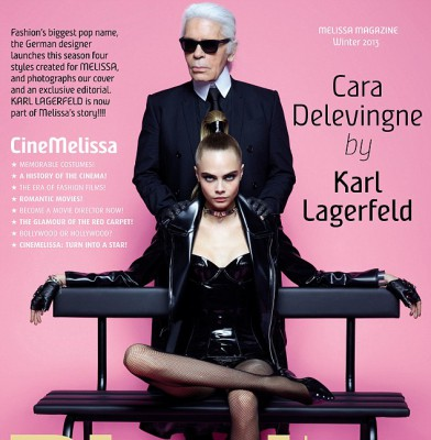 Cara Delevingne teams up with Karl Lagerfeld for racy shoot