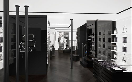 Karl Lagerfeld opened a concept-store in Paris