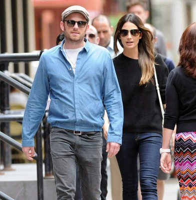 VS model Lily Aldridge and husband Caleb Followill spend some quality time together