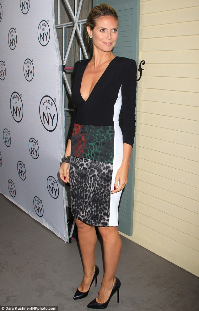 "Heidi Klum shows off ""animal magnetism"" at Made In NY Awards"