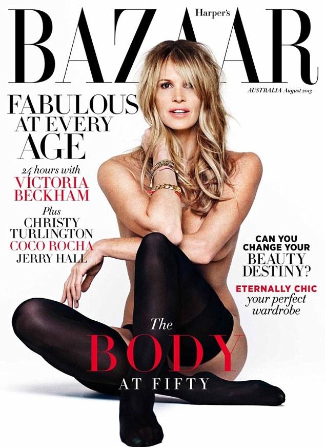 Elle MacPherson rolls back the years for Australia's Harper's Bazaar