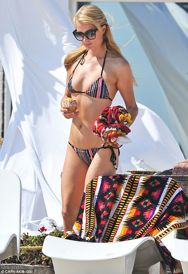 It was  just another lazy hazy day of summer for Paris Hilton
