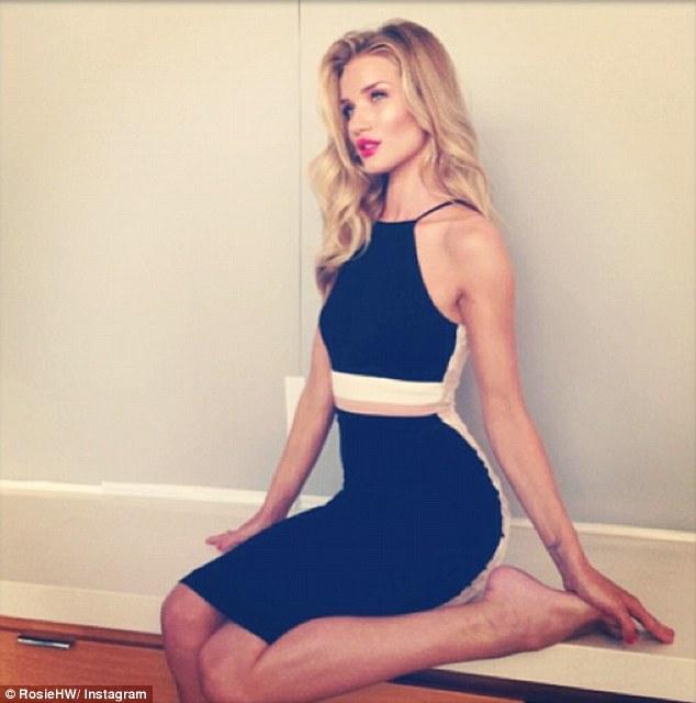 Rosie Huntington-Whiteley sizzles in ModelCo Cosmetics photoshoot