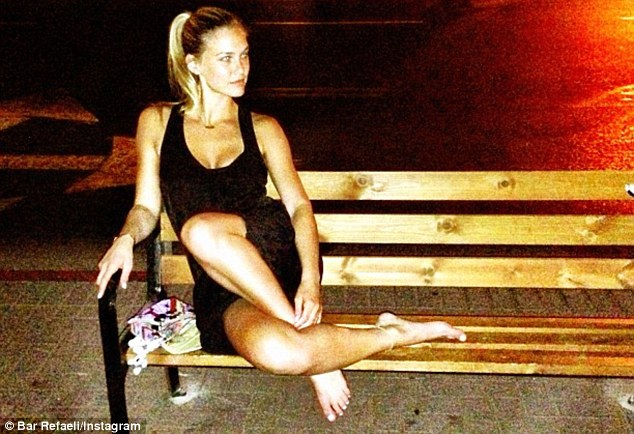 Bar Refaeli proves you can have fun anywhere!